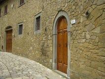 średniowieczna ulica Fotografia Royalty Free