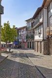 Średniowieczna ulica, Guimaraes, Portugalia Obrazy Stock