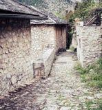 Średniowieczna ulica w Pocitelj Obrazy Royalty Free