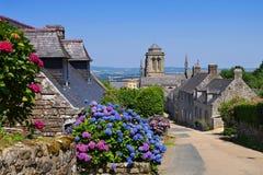Średniowieczna wioska Locronan, Brittany Zdjęcie Royalty Free