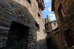 Średniowieczna wioska Os De Civis, Hiszpania Zdjęcie Stock
