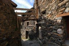 Średniowieczna wioska Os De Civis, Hiszpania Zdjęcia Stock