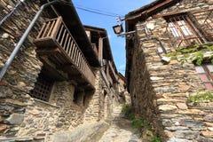 Średniowieczna wioska Os De Civis, Hiszpania Zdjęcia Royalty Free