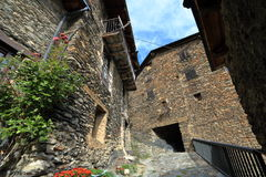 Średniowieczna wioska Os De Civis, Hiszpania Fotografia Royalty Free
