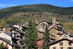 Średniowieczna wioska Os De Civis, Hiszpania Obraz Stock