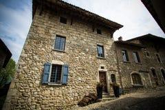 Średniowieczna wioska Perouges, Francja Zdjęcie Royalty Free