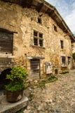 Średniowieczna wioska Perouges, Francja Obrazy Royalty Free