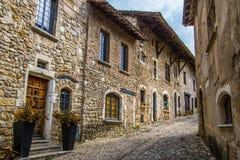 Średniowieczna wioska Perouges, Francja Obraz Royalty Free