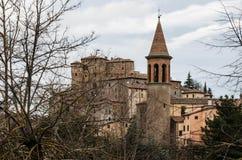 Średniowieczna wioska: SANT'AGATA FELTRIA Obraz Stock