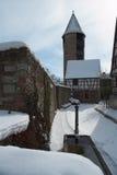 średniowieczna zimy. Zdjęcia Stock