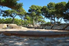 ?redniowieczne forteca ?ciany w Rethymno, Crete, Grecja zdjęcie stock
