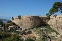 ?redniowieczne forteca ?ciany w Rethymno, Crete, Grecja obraz stock