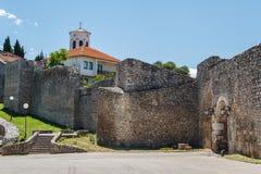 Średniowieczne fortyfikacje Ohrid Zdjęcia Stock