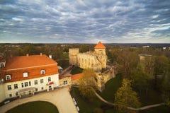 Średniowieczne grodowe ruiny, Cesis, Latvia Fotografia Royalty Free
