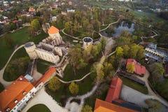 Średniowieczne grodowe ruiny, Cesis, Latvia Obrazy Stock