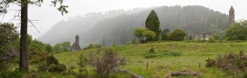 Średniowieczne Irlandzkie monaster ruiny Zdjęcia Royalty Free