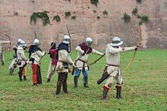 Średniowieczne łuczniczki Zdjęcia Stock