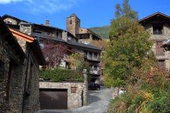Średniowieczne ulicy Os De Civis, Hiszpania Fotografia Royalty Free