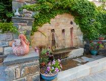 Średniowiecznego grka wioska blisko Monemvasia Fotografia Royalty Free