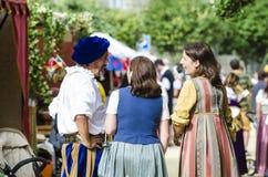 średniowieczni ludzie Zdjęcia Royalty Free