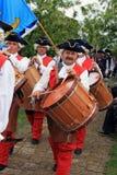 średniowieczni ludzie kostiumów target1434_1_ Zdjęcie Royalty Free