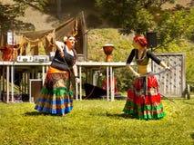 Średniowieczni tancerze, festiwal Zdjęcie Stock