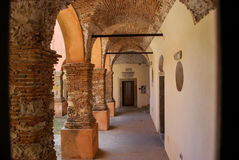 Średniowieczny Augustine klasztor w Forza d ` Agro sicily Obraz Royalty Free