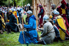 Średniowieczny batalistyczny odtworzenie zdjęcia stock