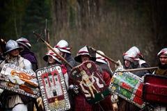 Średniowieczny batalistyczny republika czech, Libusin (odbudowy) Fotografia Stock