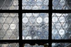 Średniowieczny butelki szklany okno Fotografia Stock
