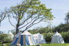 Średniowieczny camping Zdjęcia Stock