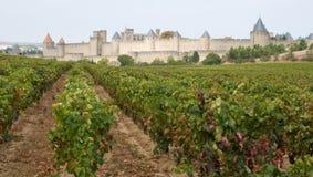 średniowieczny Carcassonne miasto Obrazy Royalty Free
