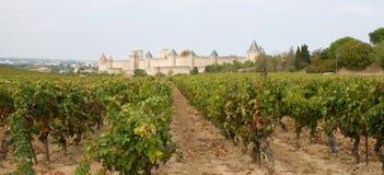 średniowieczny Carcassonne miasto Fotografia Royalty Free