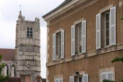 średniowieczny centre miasto Zdjęcia Royalty Free