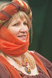 średniowieczny dama portret Zdjęcie Stock