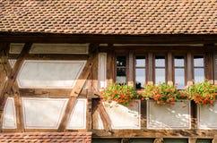 Średniowieczny dom z kwiatami Zdjęcie Royalty Free