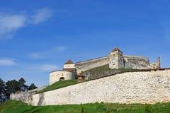 Średniowieczny forteca, cytadela, w Rasnov, Brasov, Obraz Royalty Free
