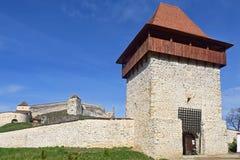 Średniowieczny forteca, cytadela, w Rasnov, Brasov, Transylvania, Rom Fotografia Stock