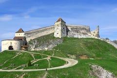 Średniowieczny forteca, cytadela, w Rasnov, Brasov, Transylvania, Rom Zdjęcie Stock