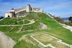Średniowieczny forteca, cytadela, w Rasnov, Brasov, Transylvania, Rom Fotografia Royalty Free