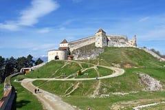 Średniowieczny forteca, cytadela, w Rasnov, Brasov, Transylvania, Rumunia Obraz Royalty Free