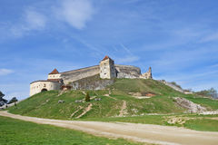 Średniowieczny forteca, cytadela, w Rasnov, Brasov, Transylvania, Rumunia Zdjęcia Stock