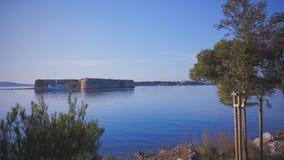Średniowieczny forteca na morzu w Chorwacja Obrazy Royalty Free
