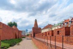 Średniowieczny forteca w centrum Warszawa Zdjęcie Royalty Free