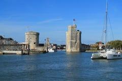 Średniowieczny góruje La Rochelle, Francja Obrazy Stock