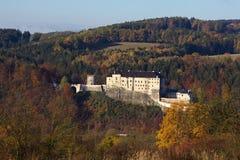 Średniowieczny grodowy czech Sternberk Zdjęcie Royalty Free