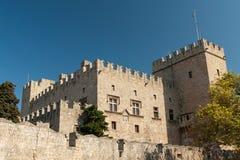 Średniowieczny grodowy Rhodes Obraz Royalty Free