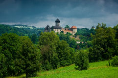 Średniowieczny grodowy Sovinec. Fotografia Royalty Free