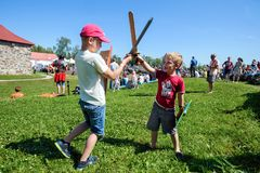Średniowieczny historyczny festiwal Zdjęcie Royalty Free
