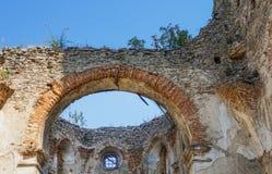 Średniowieczny kamienny forteca w Starokonstantinov Obrazy Stock